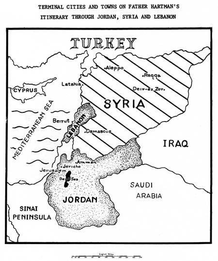 Hartman Itinerary Jordan Syria Lebanon