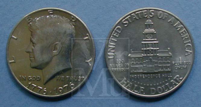 Kennedy Half Dollar Bicentenial