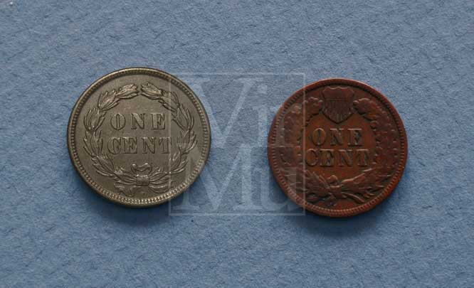 Indian Head Penny Reverse Compare