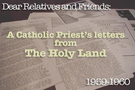 Father Hartman Letters Holy Land
